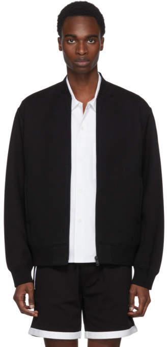 Prada Black Jersey Tech Bomber Jacket