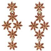 Oscar de la Renta Crystal Floral Drop Earrings