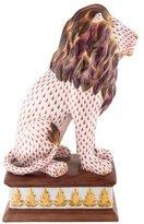 Herend Lion on Pedestal Figurine