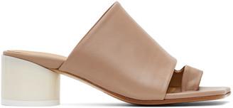 MM6 MAISON MARGIELA Pink Leather Mules