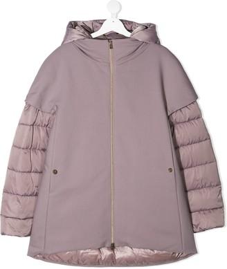 Herno TEEN layered down coat