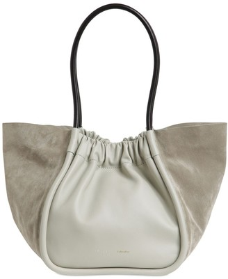 Proenza Schouler LARGE SMOOTH LEATHER & SUEDE TOTE BAG