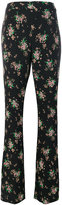 MSGM flared floral trousers