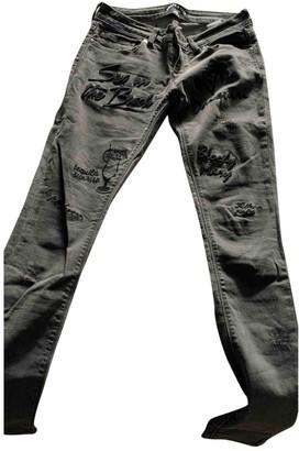 Filles a papa Grey Cotton Jeans for Women