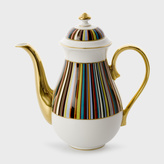 Paul Smith for Thomas Goode - Signature Stripe Bone-China Coffee Pot