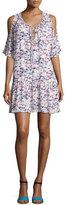 Amanda Uprichard Ora Cold-Shoulder Drop-Waist Dress, Multi