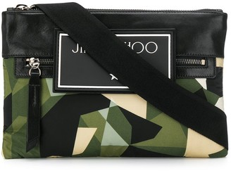 Jimmy Choo Kimi camouflage messenger bag