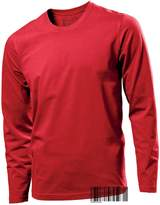 Underhood of London Men's Tagless 100% Cotton Long Sleeve Crew Neck T-shirt