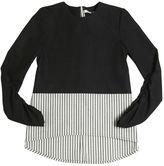 Twill & Striped Cotton Top