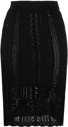 Pinko Knitted Cotton Pencil Skirt
