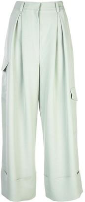 Tibi Drape Pleated Cargo Trousers