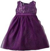 So La Vita Girls 2-6x Sequined Bodice Tiered Dress