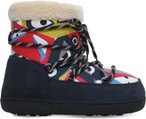 Fendi Elder Sheepskin Moon Boots 9-11 years