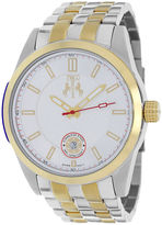 Jivago Rush Mens Silver-Dial Two-Tone Stainless Steel Bracelet Watch