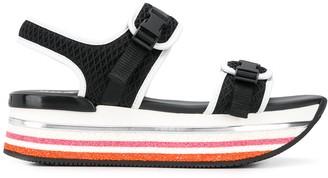 Hogan H222 platform mesh sandals