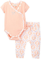 Jessica Simpson Arrow Embroidered Bodysuit & Pant Set (Baby Girls)