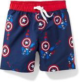 Old Navy Marvel Comics Captain America Swim Trunks for Toddler Boys
