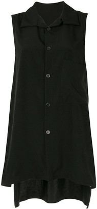 Y's Sleeveless Button-Up Shirt