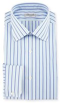 Charvet Striped Dress Shirt, Blue