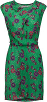Etoile Isabel Marant Sukey asymmetric printed crepe de chine mini dress