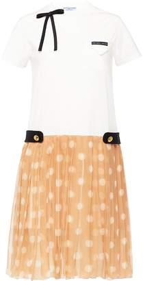 Prada polka dot T-shirt dress