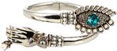 Alexander McQueen Crystal-embellished hand and eye bracelet
