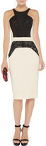 Antonio Berardi Lace-paneled stretch-crepe dress