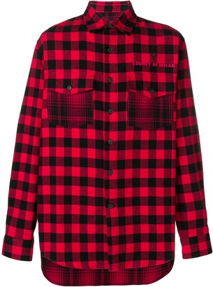Marcelo Burlon County of Milan Plaid Dogo Shirt