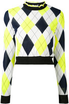 MSGM diamond patterned top - women - Polyester/Viscose - S