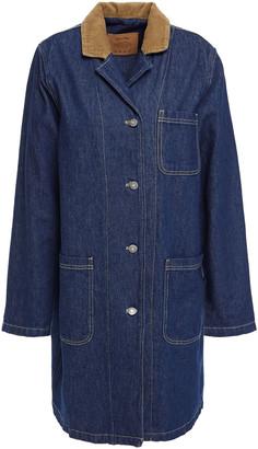 American Vintage Ozistate Corduroy-trimmed Denim Coat