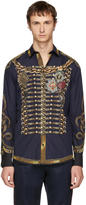 Dolce & Gabbana Navy Knight Shirt
