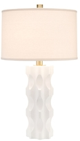 John-Richard Collection Carved Linen Table Lamp