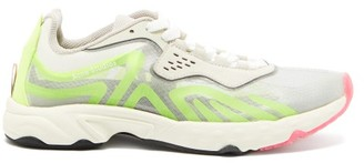 Acne Studios Buzz Suede And Mesh Trainers - Yellow Multi