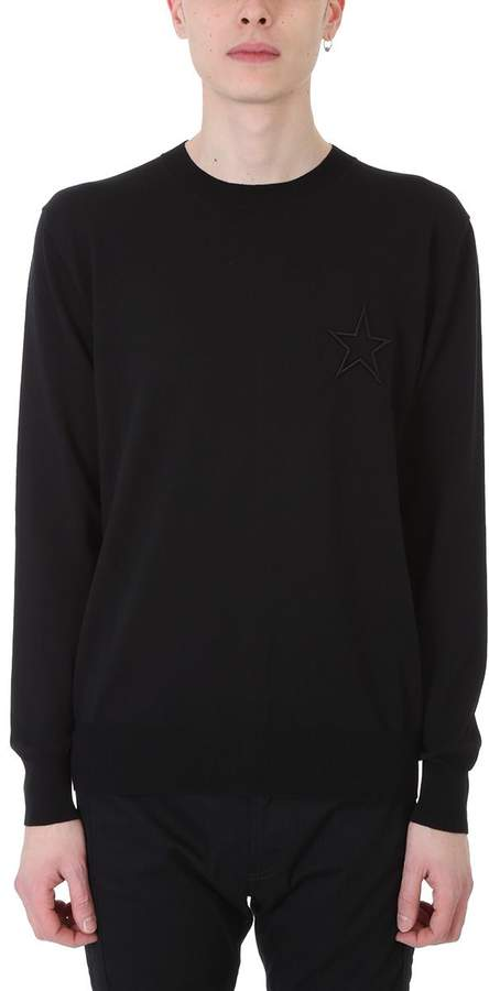Givenchy Black Cotton Sweater