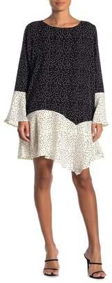 TOV Colorblock Polka Dot Dress