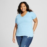 Women's Plus Size V-Neck Tee - Mossimo Supply Co.(Junior's)