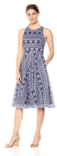 41d7c72f84876 Women's Lace Fit and Flare Midi Dress