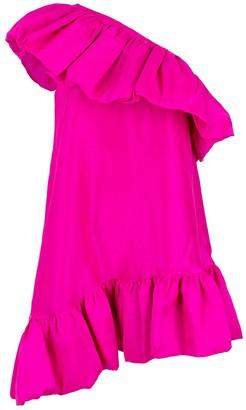 Azeeza One Shoulder Ruffle A-Line Dress