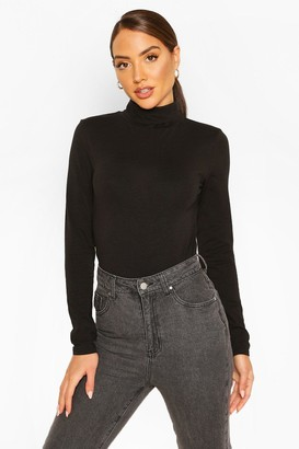 boohoo Roll Neck Long Sleeve Bodysuit