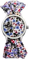 Oasis Women's Quartz Watch with Flower Print Dial and Cloth Bracelet B1383