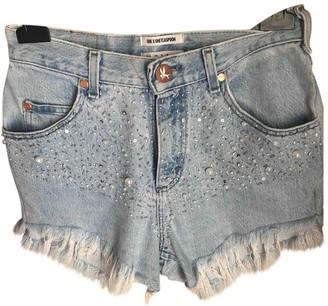 One Teaspoon Blue Denim - Jeans Shorts for Women