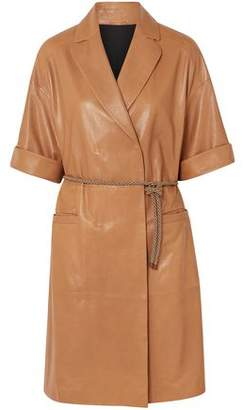 Brunello Cucinelli Double-breasted Leather Coat