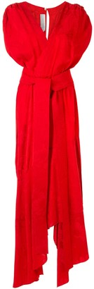 Silvia Tcherassi Asymmetric Maxi Dress