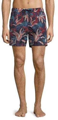 Moncler Floral-Print Swim Trunks