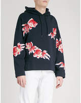 Sandro Goldfish-embroidered cotton-jersey hoody