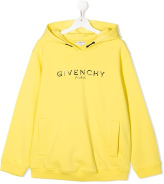 Givenchy Kids TEEN logo print cotton hoodie