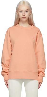 Acne Studios Pink Crewneck Patch Sweatshirt