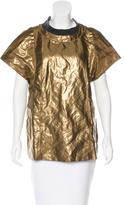 Marni Metallic Short Sleeve Top
