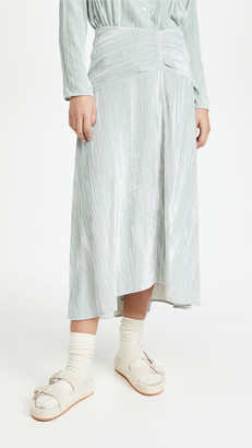 Vince Ruched Paneled Skirt