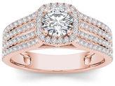 MODERN BRIDE 1 CT. T.W. Diamond 14K Rose Gold Engagement Ring